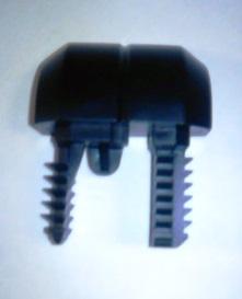 520000964Заглушка бампера заднего черная левая